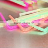 Plastic disposable Colored flexible drinking straws factory