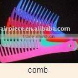 Black pintail comb/metal tail comb/black plastic comb