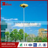Factory price hot-dip galvanized steel Q235 high mast lighting pole solar bright outdoor light