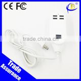 High speed 5v 3a 4usb port ac power wall charger for cellphone