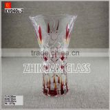 Hand Blown 24 inch glass vases for flower