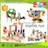 EN71 top sale push toy vehicle wooden marble run OEM/ODM educational marble run for children