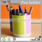 Promotional Plastic Pen Holder, Acrylic pen holder, rotatable and assembled desk organizer