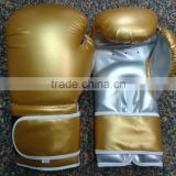 Gold Gym golden boxing gloves for training and Fight