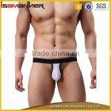 Sexy men's banana shape penis underwear sexy men t-back g-string
