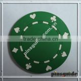 Creative Design Poker Printed 2D Soft Rubber Bar Coaster With Cheap Price