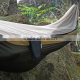 Grey 3m*1.8m high quolity Nylon 210T hammock with ripstop mosquito netting