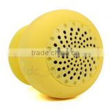 high quality portable wireless bluetooth suck mini speaker handfree function suck to wall/ phone/