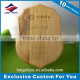 Blank wooden wall awards plaque shield wholesale
