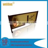 Weldon custom printed PVC ACP displayed poster board stand