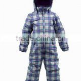 Kids Polyster waterproof snow suit,One Piece Snow Suit