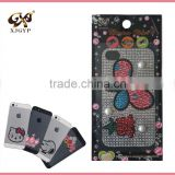 fashion cell phone sticker/diy mobile phone pear sticker/diamond sticker case for phones