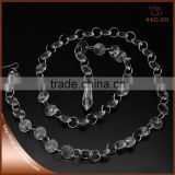 Crystal link chandlier parts octagon acrylic beaded chains garland with pendant                                                                         Quality Choice