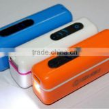 portable backup battery charger of 2500mah for ipod, iphone, mobile phone , Camera, PSP, Ipad,DV,MP3