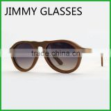 JM482 Replica Sunglasses Gradient Grey Polarized Lenses Walnut Wooden Frame Sunglasses Women