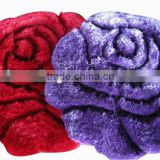 3D Purple Rugs 100% Polyester Shaggy Carpet