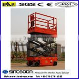 280 kg capacity 4-6 meters lifting height electric hydraulic scissor lift hydraulic scissor lift