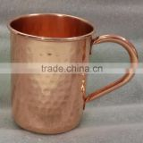 BPA FREE 100% 16 OZ HAMMERED FINISH COPPER MUG FOR MOSCOW MULE