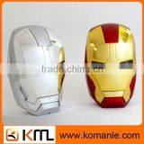 High Quality 5500mah power bank with ce rohs, Dual Output iron man power bank for iphone ,smartphone,tablet