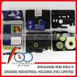 Compatible brother p-touch laminated label printer tape 12mm black on white 12mm TZe-231