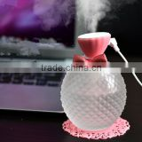 Latest Perfume bottle design usb mini ultrasonic air humidifier diffuser aroma spa with private logo