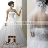 Luxury French designe Ball Gown Wedding Dress / Gown Embroidery beaded High quality mesh