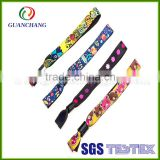 China wholesale custom new premium cotton fabric woven novelty festival fitness elastic printing wristband for event or party