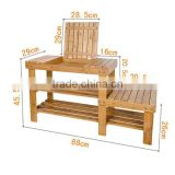 Bamboo Shoe Rack shoe shelf, shoes Bench, Stool, Display Racks, Seat with Sorage Draw On Top