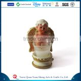 Wedding Decorative Glass Candle Holder,Polyresin Glass Bird Animal Candle Holder,Polyresin Glass Angel Christmas Candle Holder