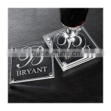 Wholesale custom blank drink wine glass coaster for Promotional gifts