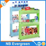 Multipurpose Shelf with Removable Wheels crack rack Bathroom Storage Storage Rack Shelf Multi-layer refrigerator side shelf