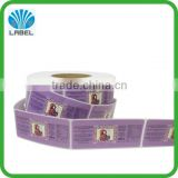 factory price custom vinyl cosmetic label sticker printing, private cosmetic sticker, eco-friendly cosmetic sticker roll