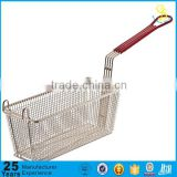 Profession production stainless steel wire mesh basket strainer for restaurant (guangzhou)