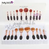 10pcs oval rose gold toothbrush cosmetics makeup brush set wholesale                                                                         Quality Choice                                                                     Supplier's Choice