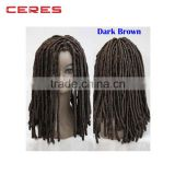 2016 new style fashionable factory cheap wholeasale price synthetic hair dreadlock wig for black woman
