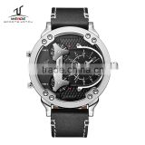 2016 Alibaba express Weide watches men, China wrist watch man quartz leather chronograph watch