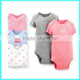 Wholesale baby cotton bodysuit creeper,baby bodysuits romper short sleeve baby girls creeper                                                                         Quality Choice