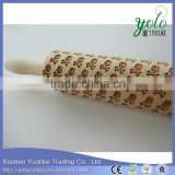 eco-friendly bamboo rolling pin with engraved skull decoration                                                                         Quality Choice