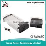 ebike battery packs 48v 10ah li-ion battery rear carriver aluminum case battery