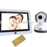 "Top Sales 7"" Color LCD Screen Baby Monitor IR Night Visual 3-5 Meters Promoting Price Nanny Camera with Monitor"