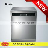 Automatic vertical front loading freestanding dish washing machine with LED display