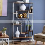 High polished stainless steel frame- Bookcase