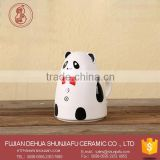 Cute bear ceramic candy cookie jar with handle