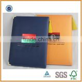 Newest High Quality Factory Direct Leather Diploma Holder, Certificate Holder With Hot Stamp Colorful Logo