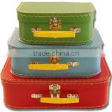 Colorful Customized fancy cardboard suitcase,kraft paper suitcase box made in Guanzhou