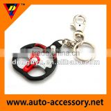 Promotion zinc alloy car wheel keyrings with custom logo