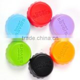 customized silicone beer savers, silicone bottle caps