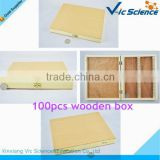 100pcs finished wood box for prepared slides