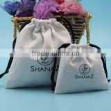 Wholesale large custom printed cotton canvas bag drawstring