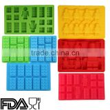 BPA Free Lego, Lego Building Bricks and Figures Silly Candy Molds Ice Cream Tools & Silicone Ice Cube Trays